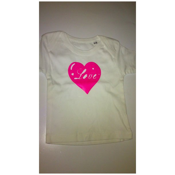 Baby T-shirt med tryk, Love