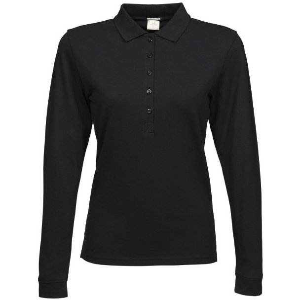 Polo, Ladies Luxury Stretch Long Sleeve Polo