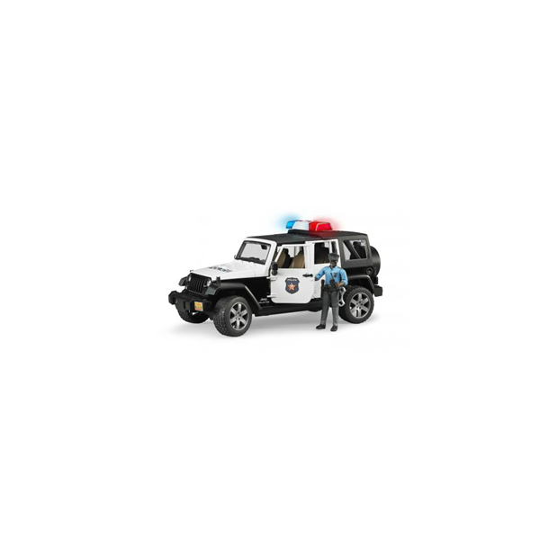 politibil Jeep Wrangler Rubicon incl politimand 1:16